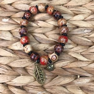 Jewelry - HAND MADE wooden beaded charm bracelet